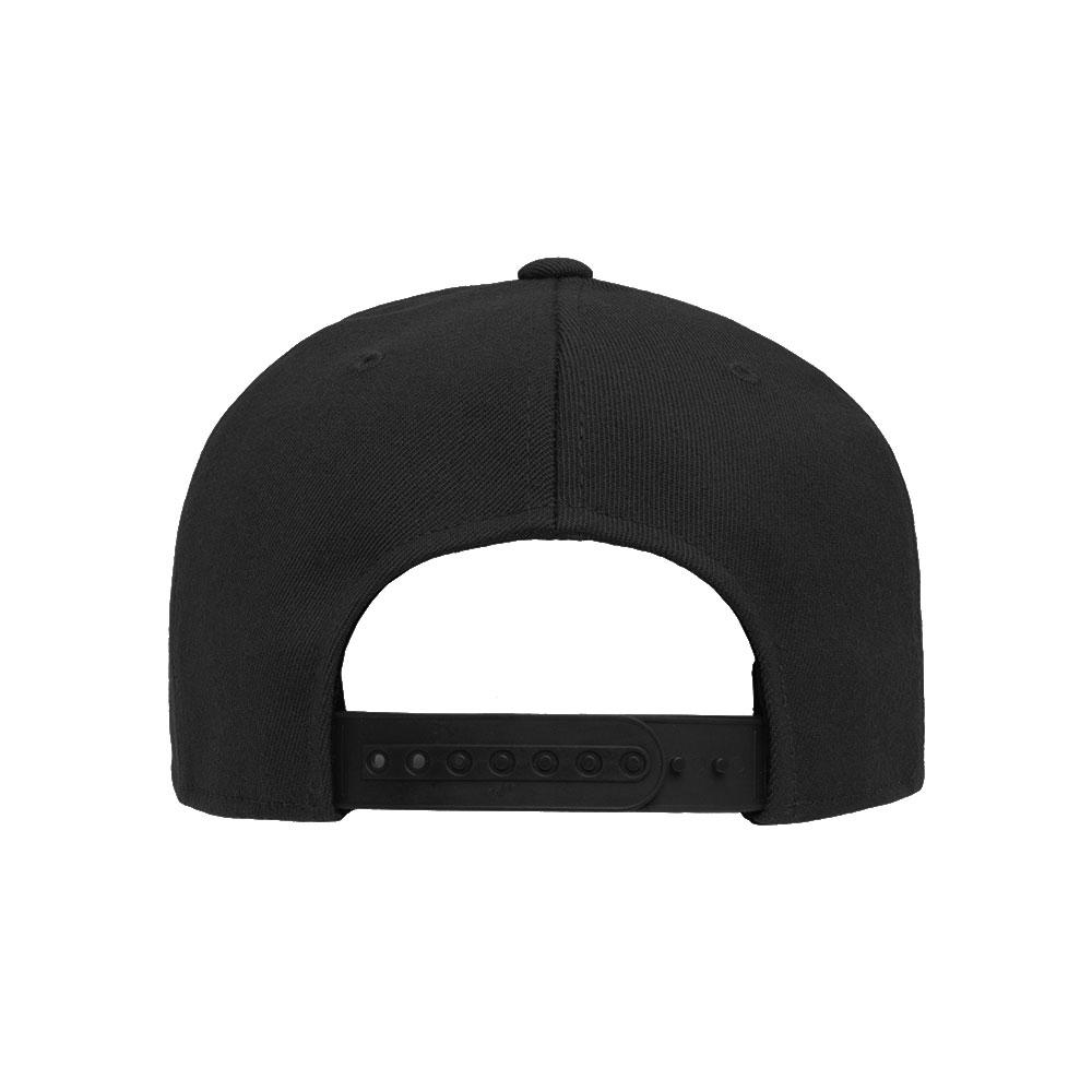 Blank Hat: Flexfit/Yupoong 110F Solid Black Flatbill