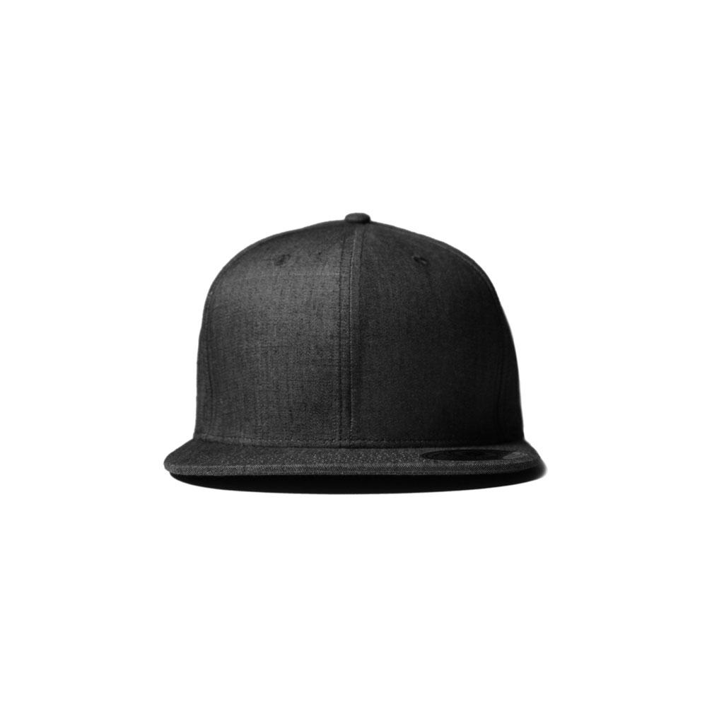 da81193b99f ... clearance blank hat full black denim flatbill snapback double portion  supply 186bd 38983 ...