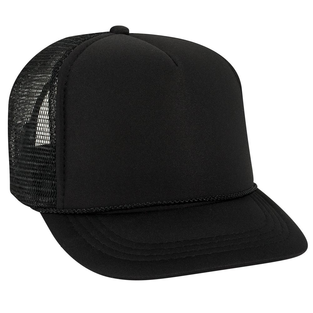 Blank Hat  SMALL YOUTH Black Foam Trucker 4899f20d5aa